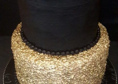 Black with Gold Sequins