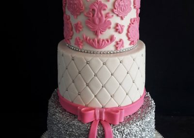 21st Bake in PInk & Silver