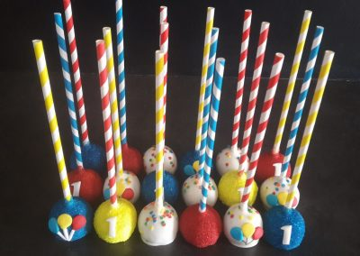 Primary Colours Cake Pops