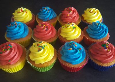 Primary Colours Cupcakes
