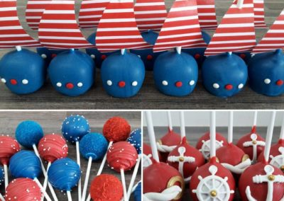 Nautical Theme Cake Pops