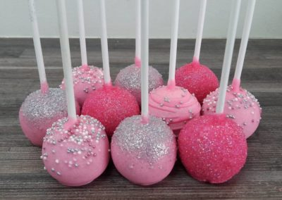 Pink & Silver Cake Pops