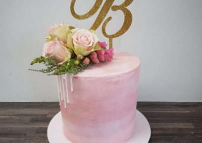 Ombre Pink Drip Cake