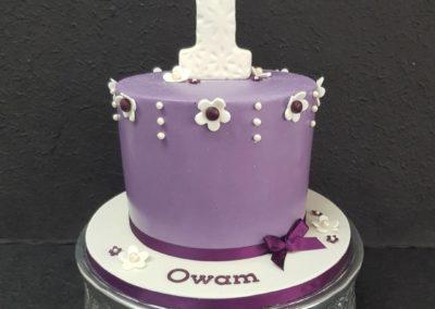 Floral Purple Cake
