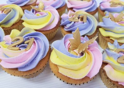 Ombre Butterfly Cupcakes