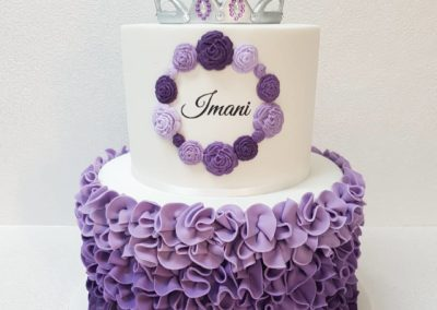 Ombre Purple Princess Cake
